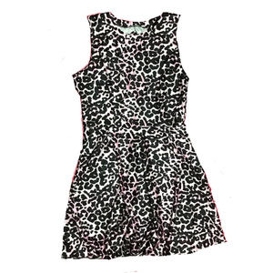 Dresses & Skirts - Smooth Stretch Pink Leopard Dress w/ Cut Out Back